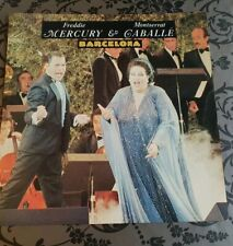 "Queen Freddie Mercury Barcelona Gatefold 7""ps Vg+"