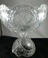 Gorgeous German Hofbauer Byrdes Centerpiece Pedestal Bowl with Bird Medalion