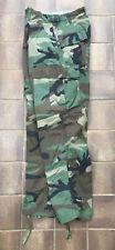 Genuine US American Army Woodland Camo M65 BDU Trousers Small Short, Supergrade