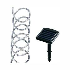 Solar Powered 16' Clear Outdoor Integrated LED Warm White Landscape Rope Light
