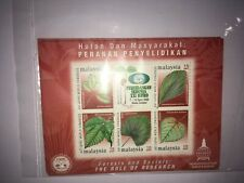 Malaysia 2000 Forest Society: The Role of Research  ms miniature sheet