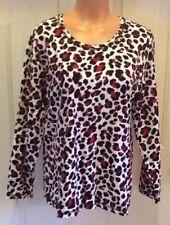 CJ BANKS, Plus Size 14W, Animal Print, Cotton/Spandex Knit Top.  NEW.
