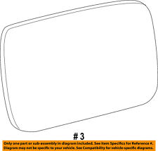 Ram CHRYSLER OEM 13-14 3500 Door Rear Side View-Mirror Glass Right 68079362AA