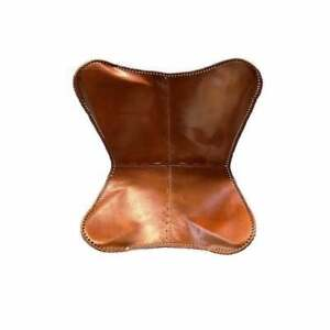 Handmade Vintage Genuine Leather Butterfly Chairs Living Room (Only Cover)