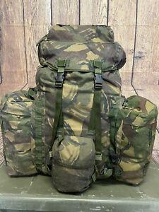 Army Infantry Bergen Rucksack DPM Camo 120Lt Short Back & Side Pouches