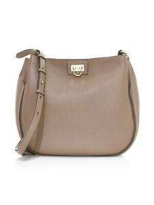NWT Salvatore Ferragamo Medium Reverse Leather Hobo BagCalf Leather MSRP $1390