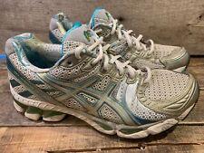 info for 36b17 b0648 ASICS Gel Kayano 17 Women s Gel Running Shoe Size 8.5 White Silver Blue Gree