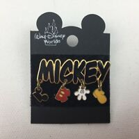 Walt Disney World Mickey Mouse Pin Scattered Parts Dangle Ears Shorts Gloves 138