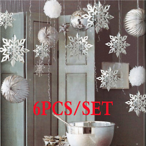Snowflakes Hanging Decorations Weeding Party Pendant Xmas Ornaments Home Decor
