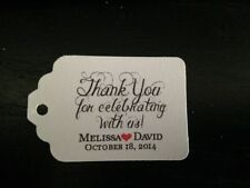 30 60 120 Wedding Favor Tags Personalized Thank You Celebrate Gift Tags