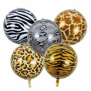"4D Animal Print Sphere 22"" inch Orb Round Helium Balloon"