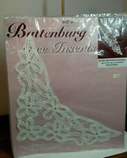 "Battenburg Lace Inserts ~ BLA45-14 25"" bow Swag ~ White-Glue Sew or Iron On"