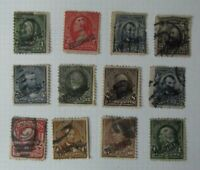 Q6. Lote de 12 sellos Fhilippines postage, sobrecarga USA usados stamped