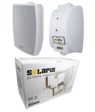 2x 6.5 300W 2-Way Surface-Mount C Clamp Outdoor Speaker Home Audio White