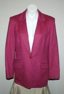TALBOTS Womens Pink Cashmere One Button Blazer Size 10