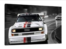 Audi S1 Quattro - 30x20 Inch Canvas - Framed Picture Group B Rally Wall Art