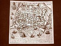 Ancona Incisione all'acquaforte del 1665 Nova descrittione di Francesco Scoto
