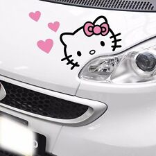 Hello Kitty Cat 5 Pink Hearts Eyelid Eyebrow Side Door Wall Decals Car Stickers