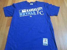 NEW MAJESTIC MLB AUTHENTIC KANSAS CITY ROYALS TRIPLE PEAK T-SHIRT SIZE L