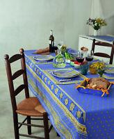 Nappe Luxe Coton anti-taches Enduit Téflon Provence 250x155cm.98x60 Inch. 8,2fee