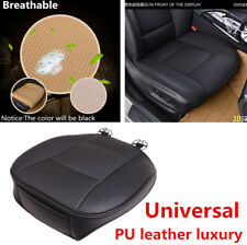 Anti-slip Car Black PU Leather Front Seat Cushion Mat Pad Cover Protector w/ Bag