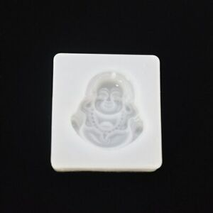 """Buddha Pendant Silicone Mold 1-1/4""""X 1-1/8"""" Resin, Clay DIY Jewelry Making #D17"""
