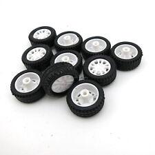 4pcs 20*8*1.9mm hollow Rubber Car Tire Toy Wheels Model Robot Part for DIY