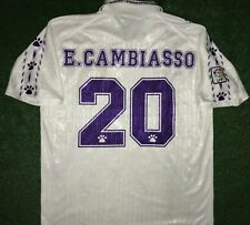 CAMBIASSO REAL MADRID MATCH WORN SHIRT  1996-1997