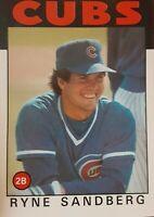 1986 Topps Ryne Sandberg Chicago Cubs #690 Baseball Card