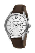 Pierre Cardin TROCA Herrenuhr Chronograph Edelstahl Silber Lederband PC106591F02