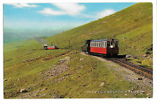 Snowdon Mountain Railway PPC unposted, 2 locos on the incline, J Salmon