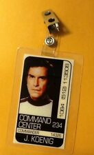 Space 1999 Id Badge -Command Center J. Koenig prop costume cosplay