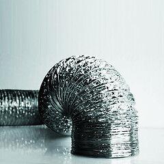 "100mm (4"") Dia Aluminium Flexible Duct - 1m, 2.5m & 7m Lengths"