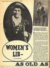 Women's Lib In the Old Pioneer West Days + Genealogy