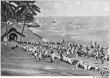"Prisoners In The Andaman Islands Indian Ocean 11x8""  Reprint Photo"