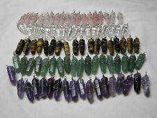 SemiPrecious Wire Wrapped Crystals Pendants U-Pick Wholesale Lot of 20 Handmade