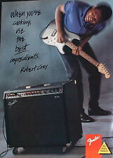 1986 Robert Cray plays the Blues on a Fender Stratocaster guitar photo print Ad