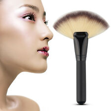 Makeup Fan Shape Pro Cosmetic Brush Blending Highlighter Contour Face Powder New