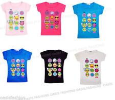 Camisetas y tops de niña de 2 a 16 años de manga corta sin marca 100% algodón