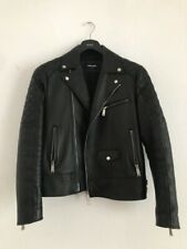Dsquared2 Quilted Aviator Leather Jacket, Size 50