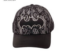 DC COMICS BATMAN LACE DAD HAT NEW!