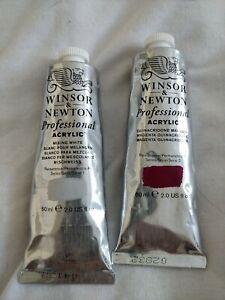 Winsor & Newton Professional Acrylic Paint 60ml x 2 tubes see description