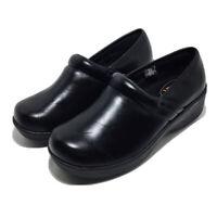 Women's Safe T Step Comfort Shoes Slip Resistant Size 7.5 Faux Black Leather