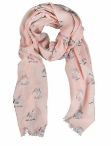Wrendale Designs Scarf - Some Bunny in Pink Champagne colour