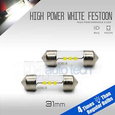 2X 31MM High Power Chip LED Map/Dome Interior Light Bulbs 6000K White