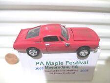 Ertl 2005 MEYERSDALE PA MAPLE FESTIVAL 1968 Ford Mustang Hood Opening Fastback
