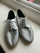 Silver brogues size UK7 EU40 Shoe Biz Copenhagen