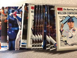 Willson Contreras 25 card lot Chicago Cubs #1