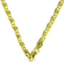 Elegante S Panzerkette Halskette Collier 585 Gold 14 Kt Gelbgold 50 cm Neu