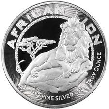 2017 Niue $2 African Lion 1 oz .999 Silver BU Round Proof-Like Bullion Coin